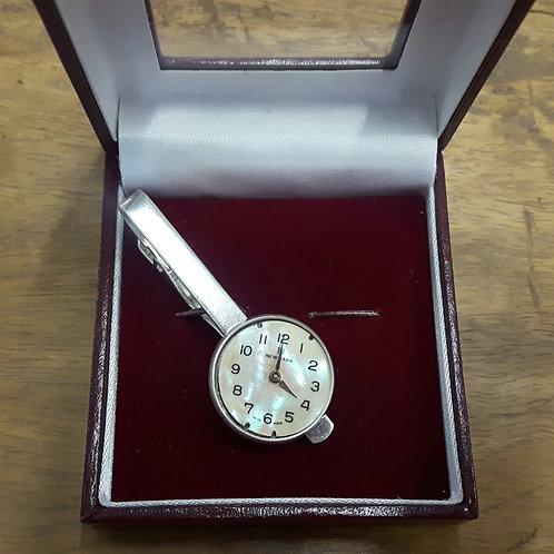 Vintage Watch Face Tie Clip