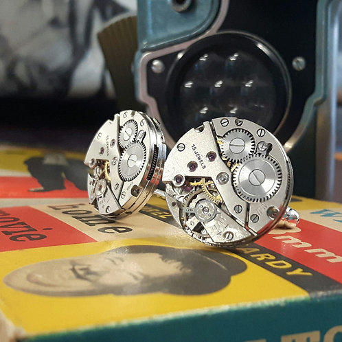 Unitas Vintage Watch Cufflinks