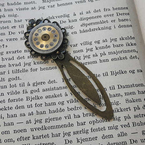 Bookmark with Vintage Watch Face