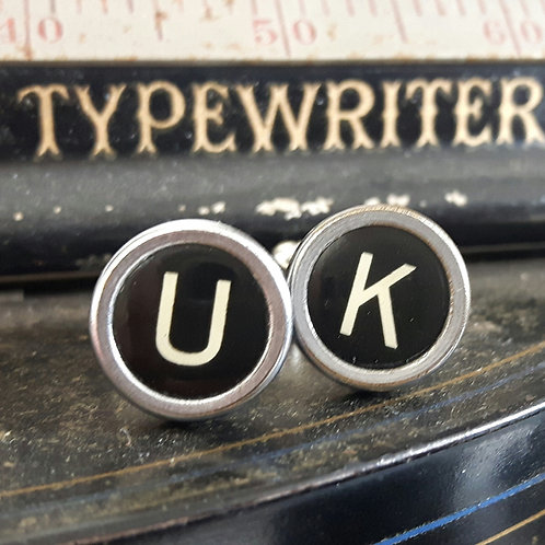 Vintage Typewriter Key Cufflinks