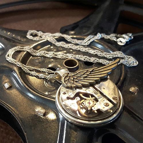 Vintage Angel Wing Watch Movement  Pendant