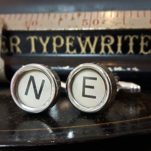 1940's Vintage Typewriter Key Cufflinks