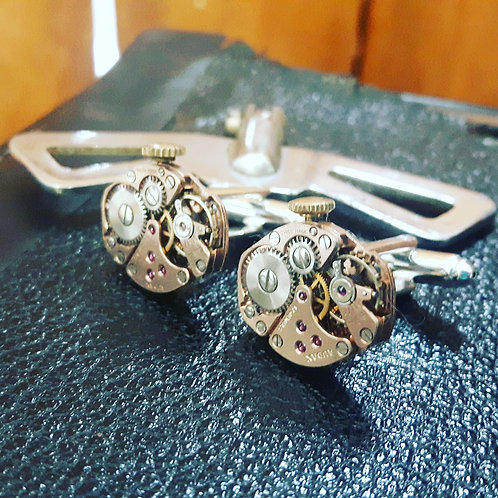 Vintage Audax Watch Cufflinks