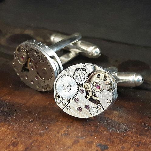 Exquisite Vintage Tissot Watch Movement Cufflinks