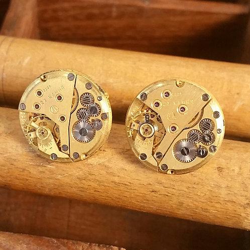 Gold plated Sekonda watch cufflinks