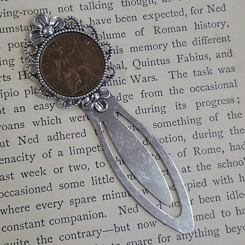 Bookmark with Farthing Coin
