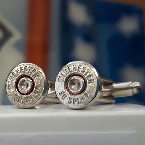 Winchester 38 special bullet cufflinks
