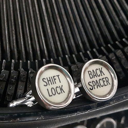 1929 Vintage Typewriter Key Cufflinks