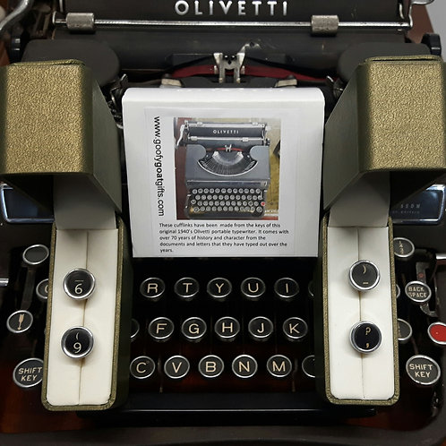 Personalise your cufflinks by choosing keys from this 1940's typewriter