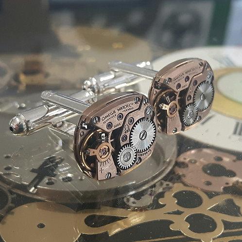 Vintage Omega Watch Cufflinks