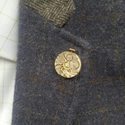 Vintage Watch Movement Lapel Pin