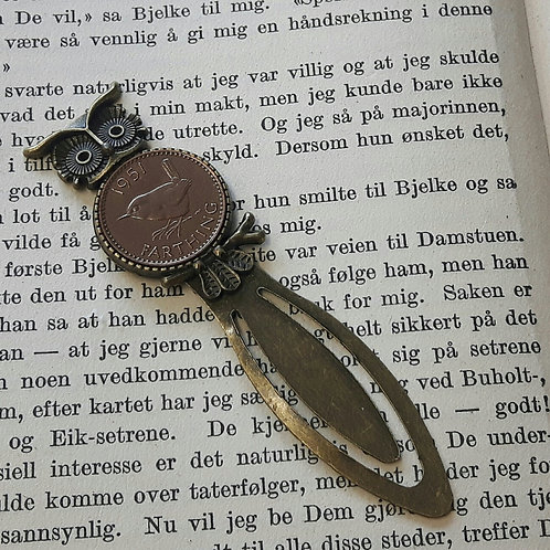 Owl Farthing Bookmark