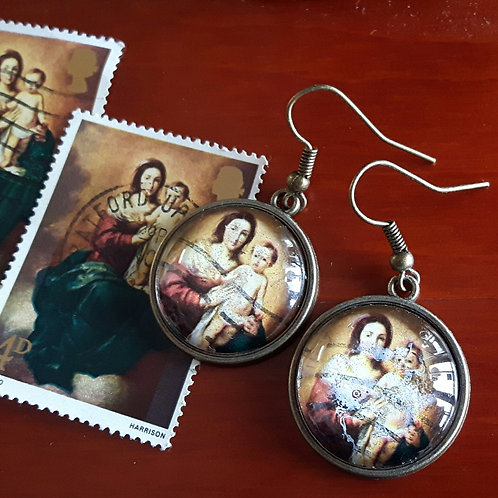 1967 British Stamp Earrings