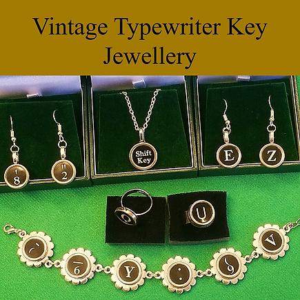 Vintage typewriter key jewellery