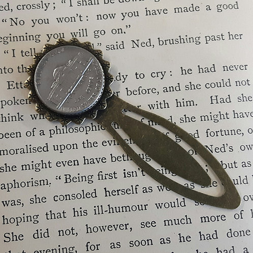 Bookmark with US Coin