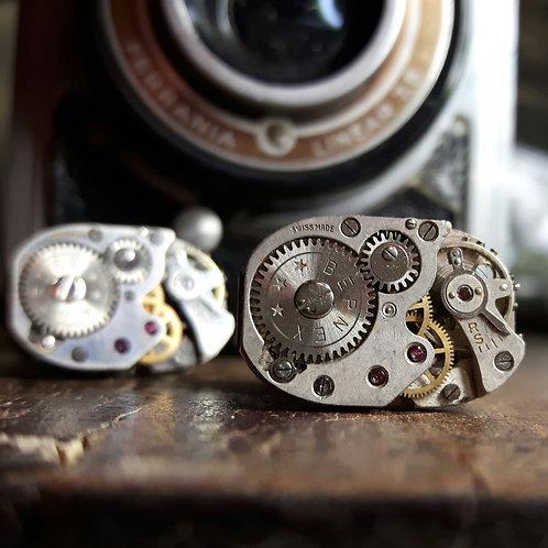 Spectaculer Vintage Bernex Watch Movement Cufflinks