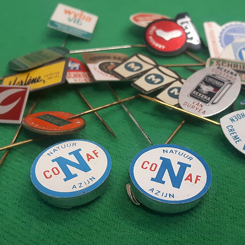 1960's Dutch Pin Badge Button Covers