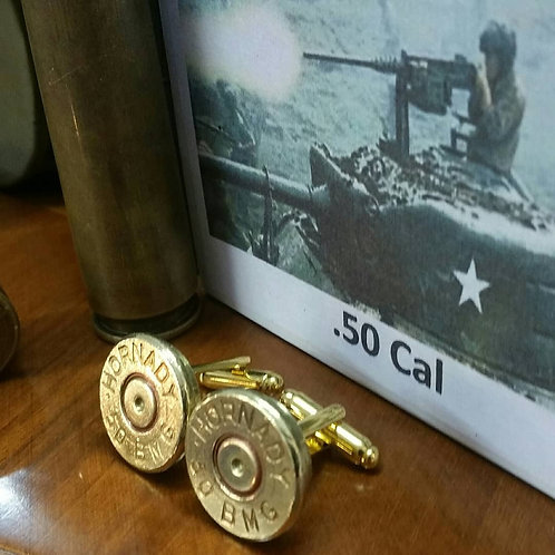 .50 CAL  Machine Gun Bullet Cufflinks