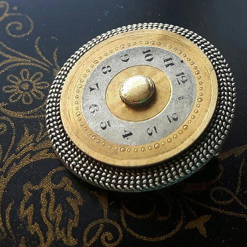 Vintage Watch Face Brooch