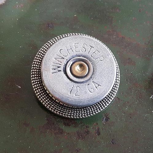 12 Bore Shotgun Cartridge Badge