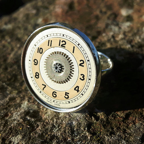 Vintage Watch Face Ring