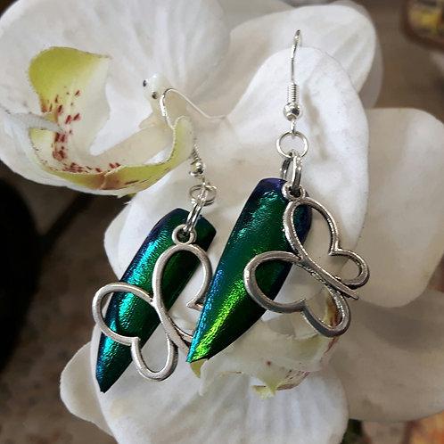 Beautiful Beetle Wing Earrings