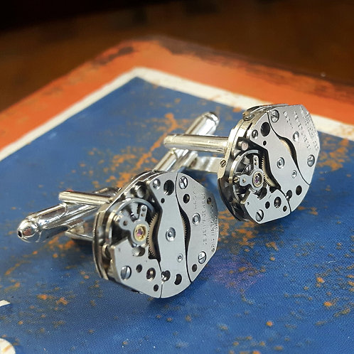 Vintage Oris Watch Movement Cufflinks