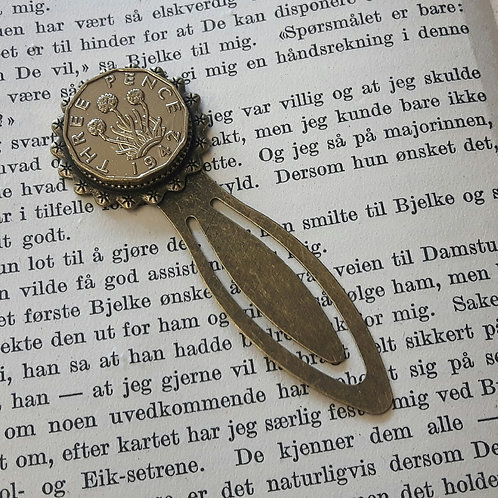 Three Pence Coin Bookmark