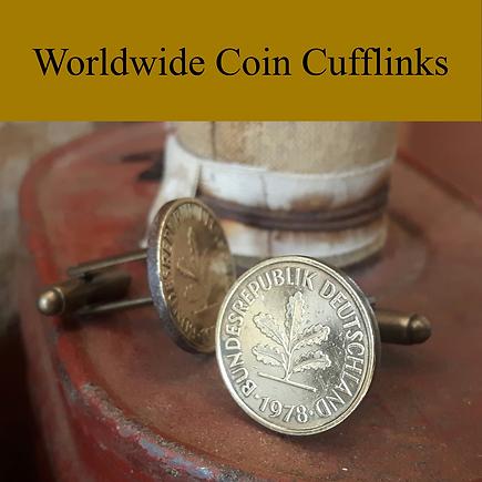 World wide coins cufflinks