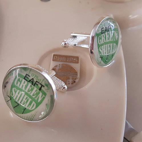 Green Shield Stamp Cufflinks