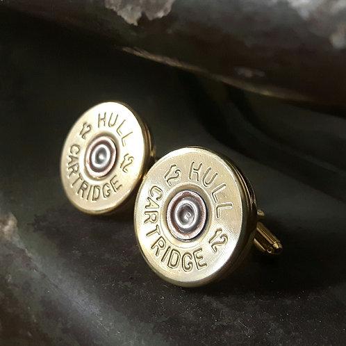 Hull 12 Bore Shotgun Cartridge Cufflinks