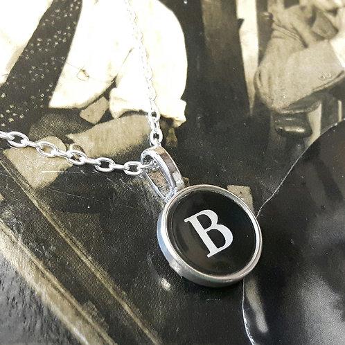 Vintage 1920's Typewriter Key Pendant