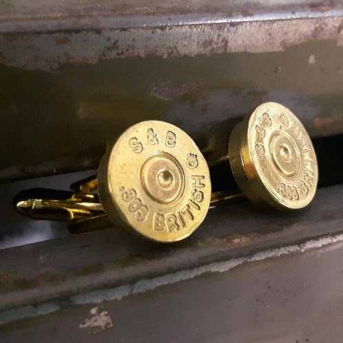.303 British brass Bullet Cufflinks