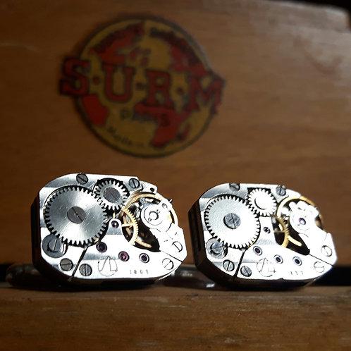 Vintage Sekonda Watch Movement Cufflinks