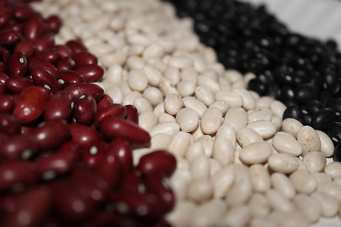 Variety Pack of Organic Dry Beans (75lbs)