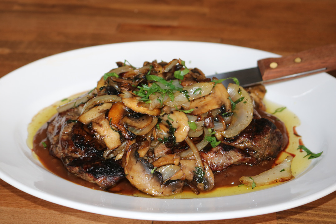 Ribeye Steak w/ Mushrooms & Onions