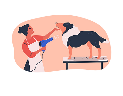 dog-grooming-service-flat-vector-2699629
