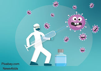 Coronavirus vaccine illustration