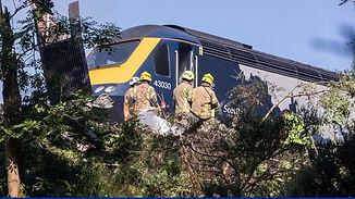 Train skids off tracks in Scotland