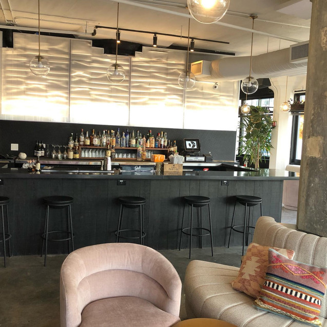 Bar top and vertical panels