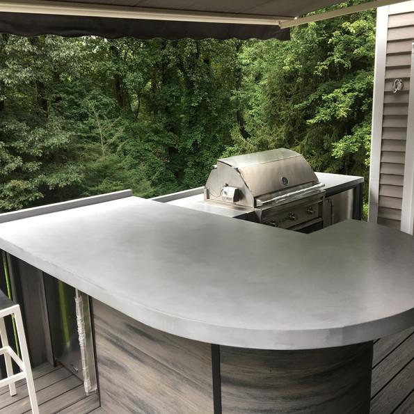outdoor concrete countertop