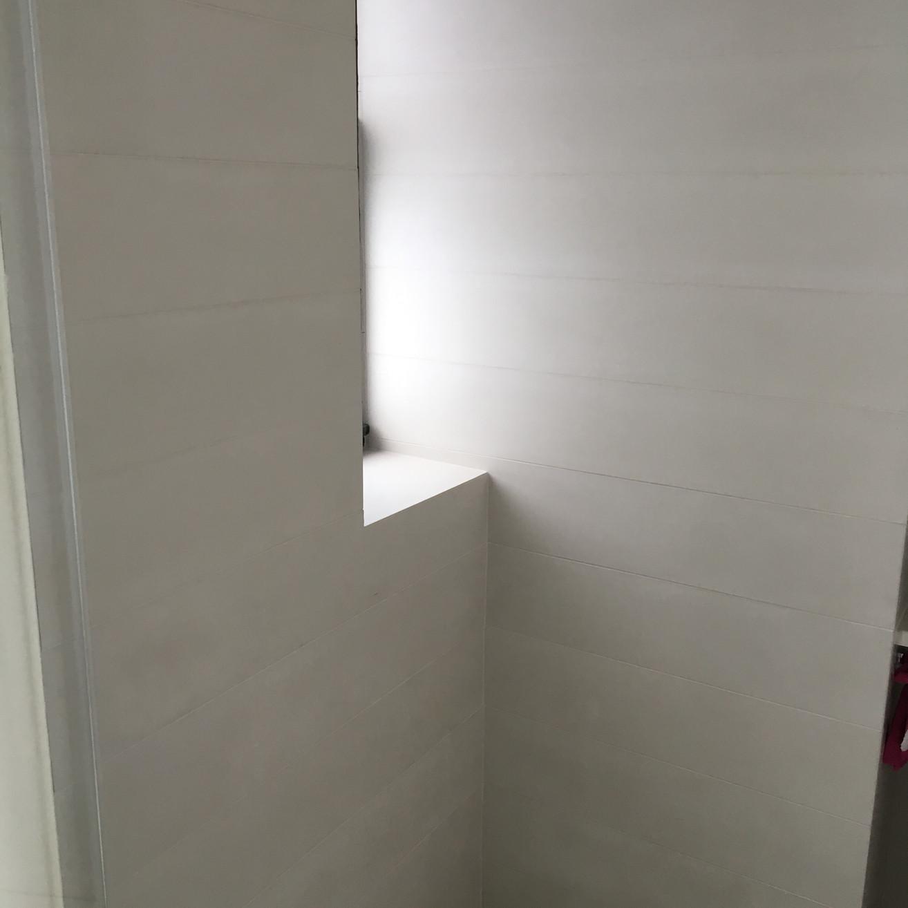 Shower walls in concrete