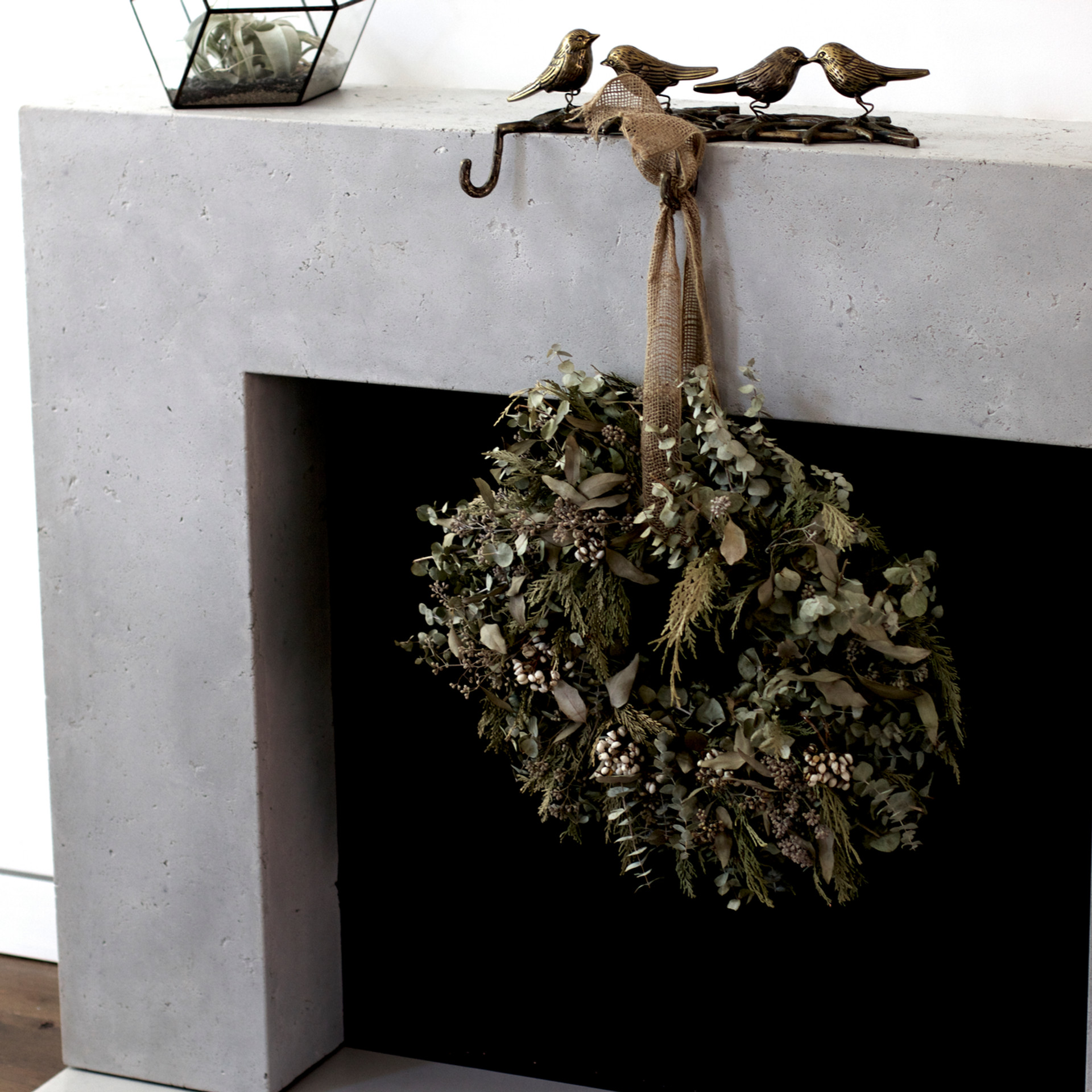 Fireplace surround in custom finish