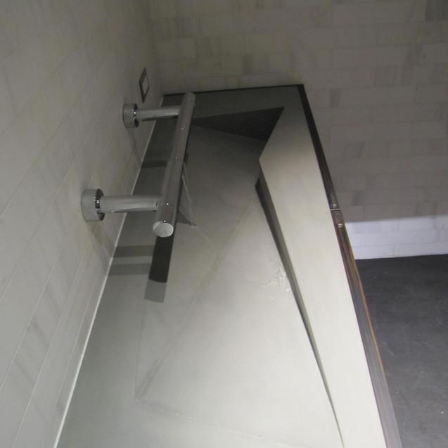 Custom concrete sink.