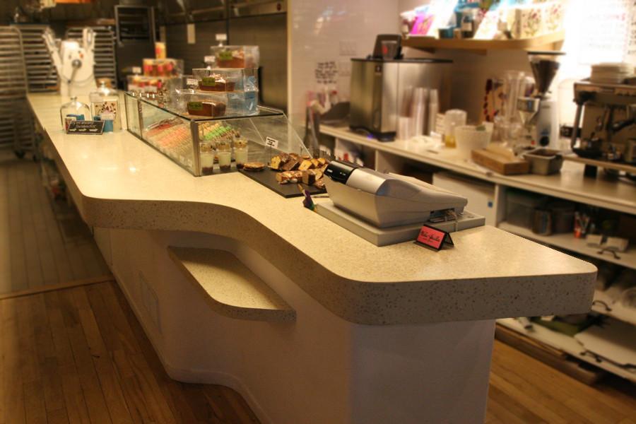 Bakery cafe concrete counter