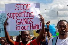 Protesting Gang Violence in Haiti