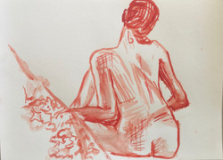NYC figure drawing red back