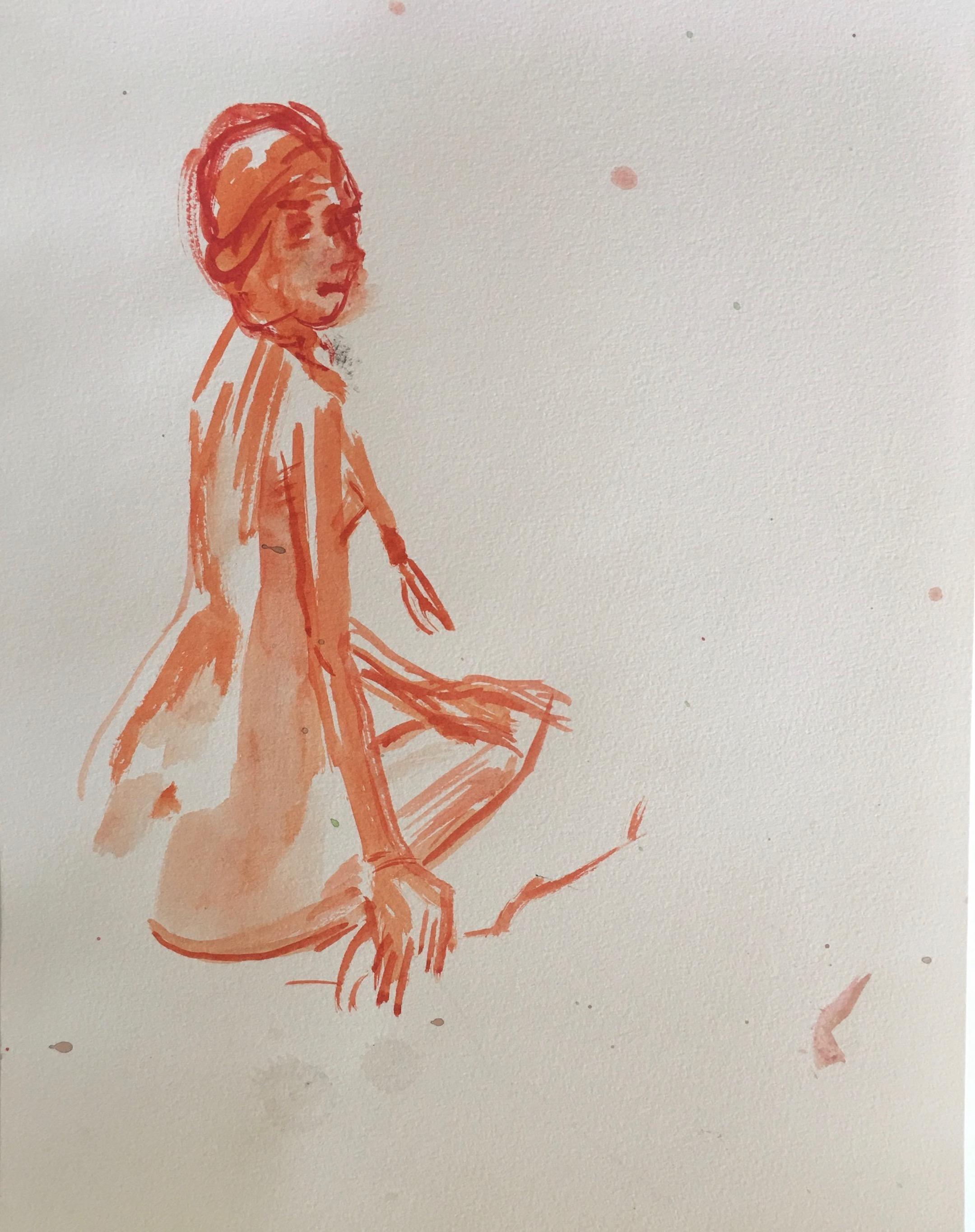 NYC figure caricature