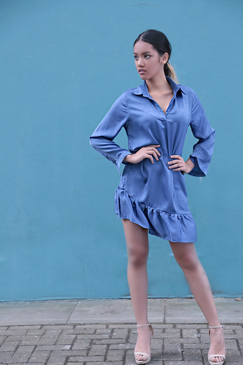 Aliya Dropped Waist Shirt Dress