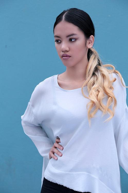 Bea long sleeve button back blouse top